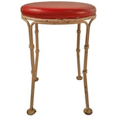 Wrought Iron Pouf Stool From Kutcher's Resort One of Ten Available