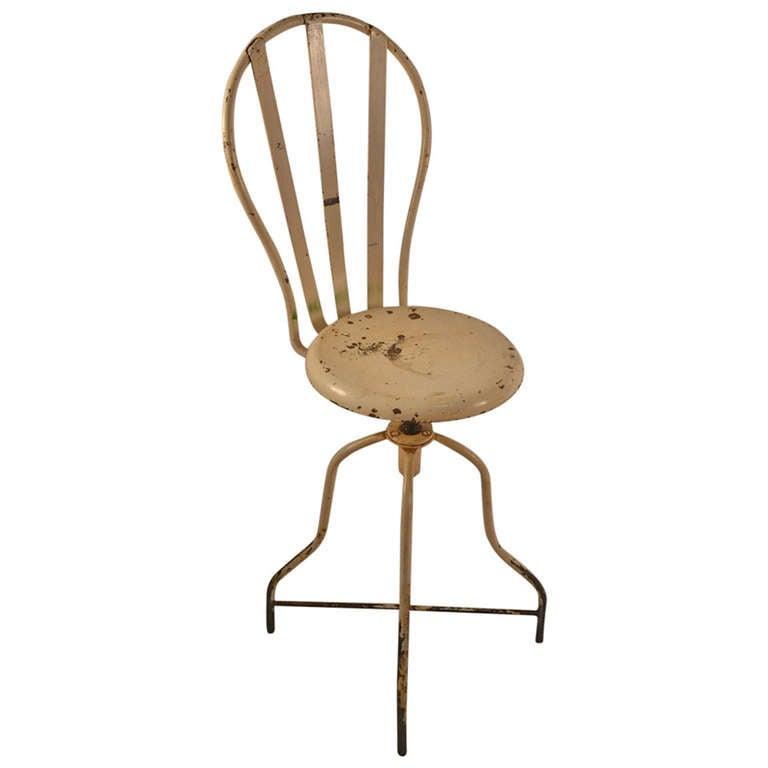Iron Industrial Swivel Stool, Chair