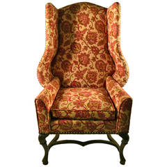 Stylish Wing Chair by Louis Mittman