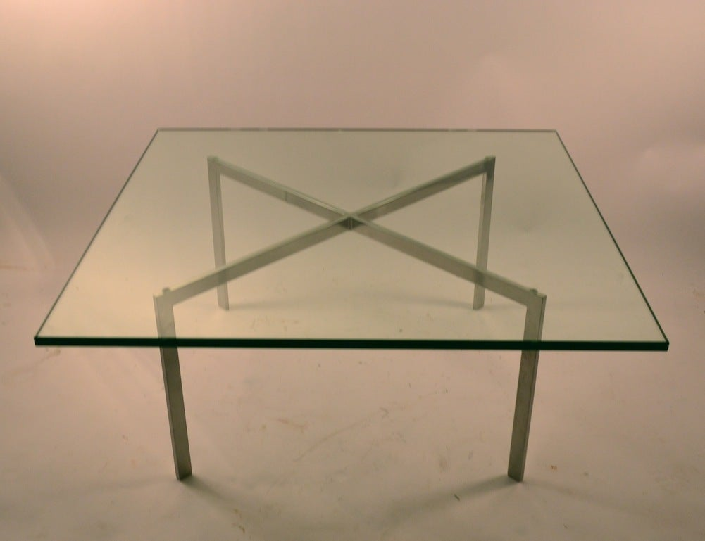 classic knoll barcelona table at 1stdibs. Black Bedroom Furniture Sets. Home Design Ideas