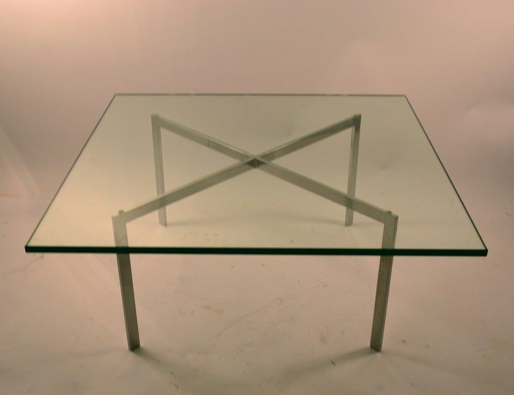 classic knoll barcelona table at 1stdibs. Black Bedroom Furniture Sets. Home Design Ideas