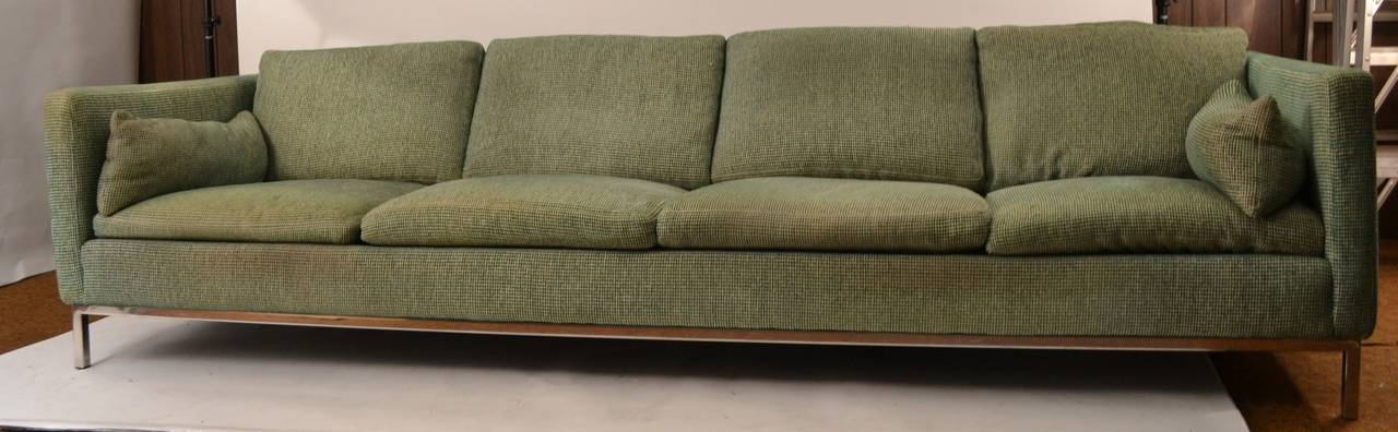 extra long sofa by steelcase at 1stdibs. Black Bedroom Furniture Sets. Home Design Ideas