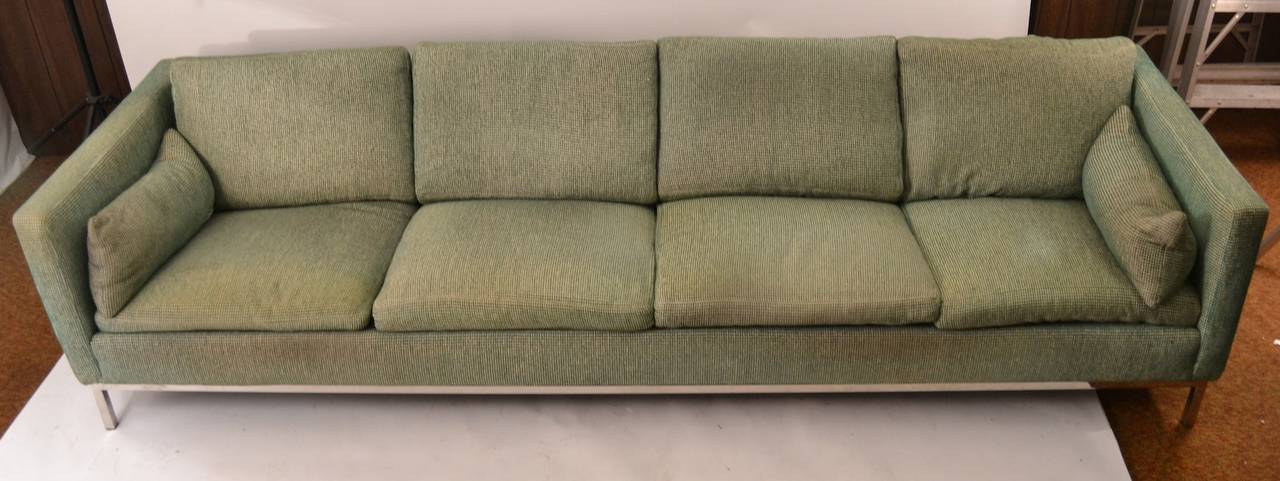Extra long sofa by steelcase for sale at 1stdibs for Long couches for sale