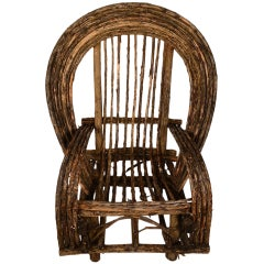 Adirondack Twig Stick Rustic Lounge Chair