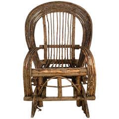 Adirondack Twig Rocking Chair