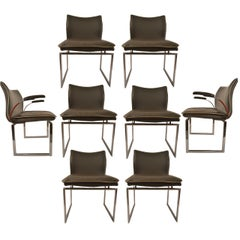 Set of Six Dining Chairs by Pieff of England   Four Side and Two Captains