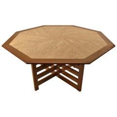 Harvey Probber Octagonal Travertine, Marble-Top Table