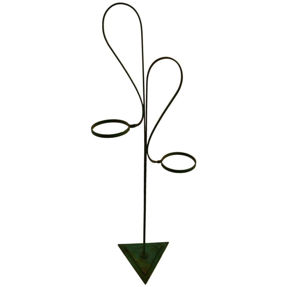 Art Deco Wrought Iron Plant Stand Attributed to Salterini