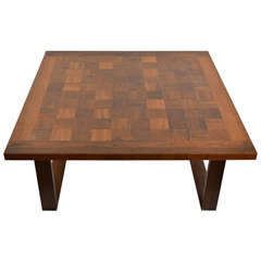 Rosewood Parquetry Table by Arne Vodder for France & Son