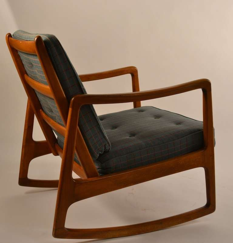 Mid 20th Century Ole Wanscher For France And Daverkosen Teak Rocking Chair