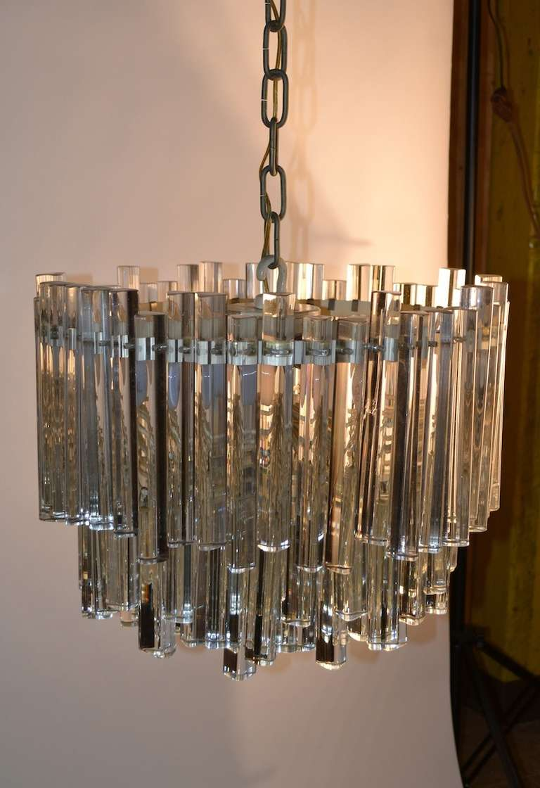 Unusual multi tiered venini crystal chandelier for sale at for Quirky items for sale