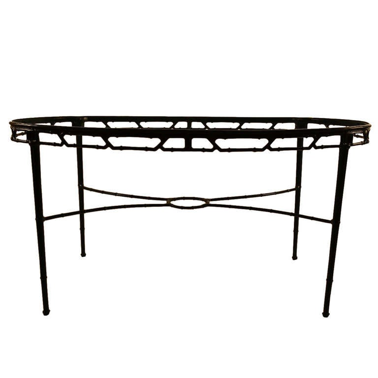 Oval brown jordan glass top dining table at 1stdibs for Oval glass dining table