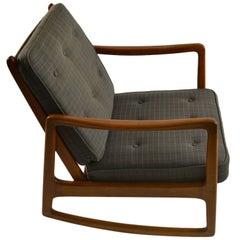 Ole Wanscher for France and Daverkosen Teak Rocking Chair
