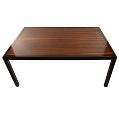 Elegant and Sleek Probber Rosewood  Dining Table with Three Leaves