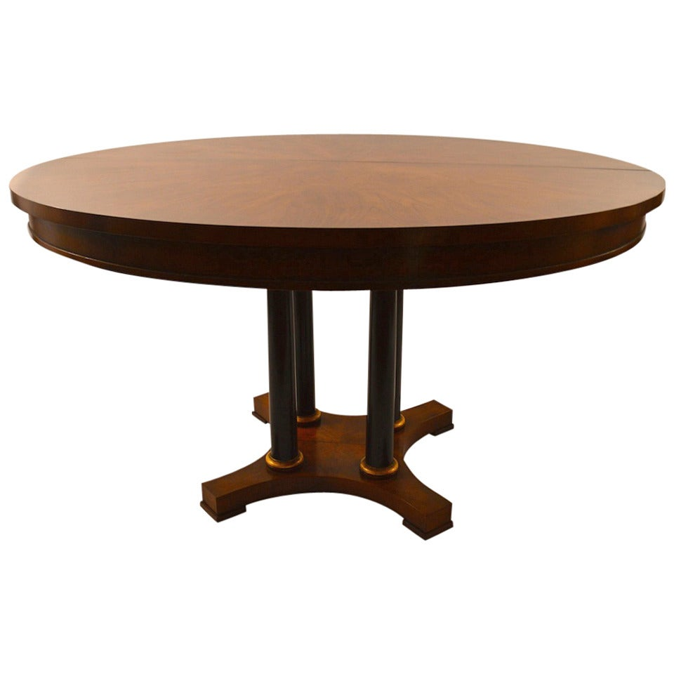 Classical style pedestal dining table by baker at 1stdibs for Dining room tables used