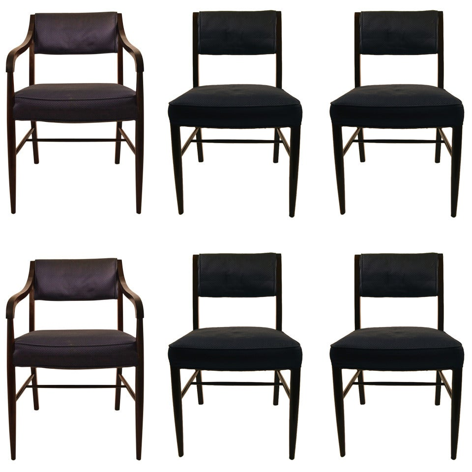 Set Of Six Harvey Probber Dining Chairs For Sale At 1stdibs
