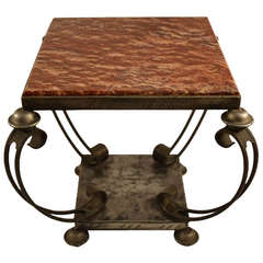 French Art Deco Marble Top Table formerly the Property of John Ford