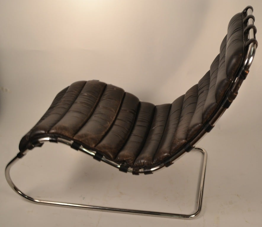mies der rohe for knoll chaise lounge at 1stdibs