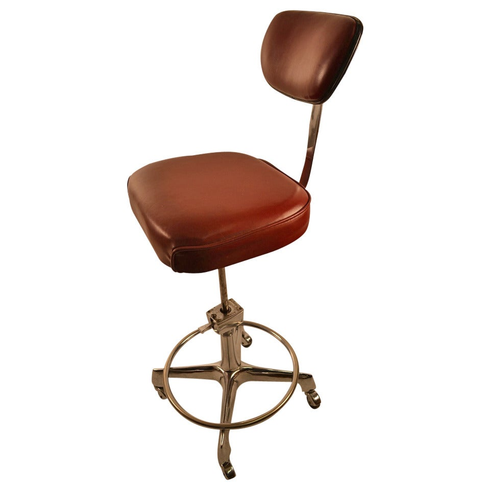 Industrial Drafting Stool Swivel Chair 1  sc 1 st  1stDibs & Industrial Drafting Stool Swivel Chair at 1stdibs islam-shia.org