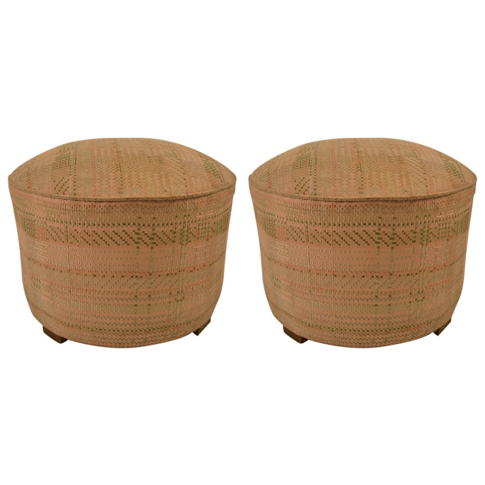 pair of art deco poufs or stools at 1stdibs. Black Bedroom Furniture Sets. Home Design Ideas