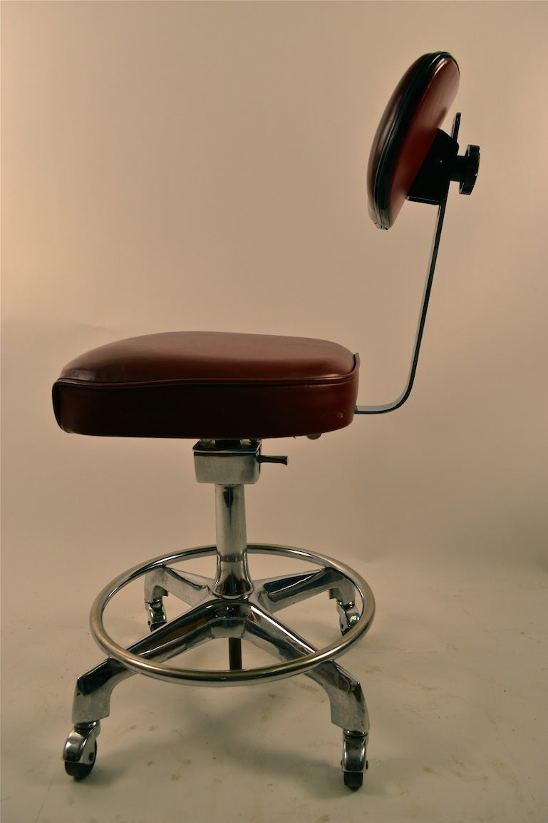 Industrial Drafting Stool Swivel Chair At 1stdibs