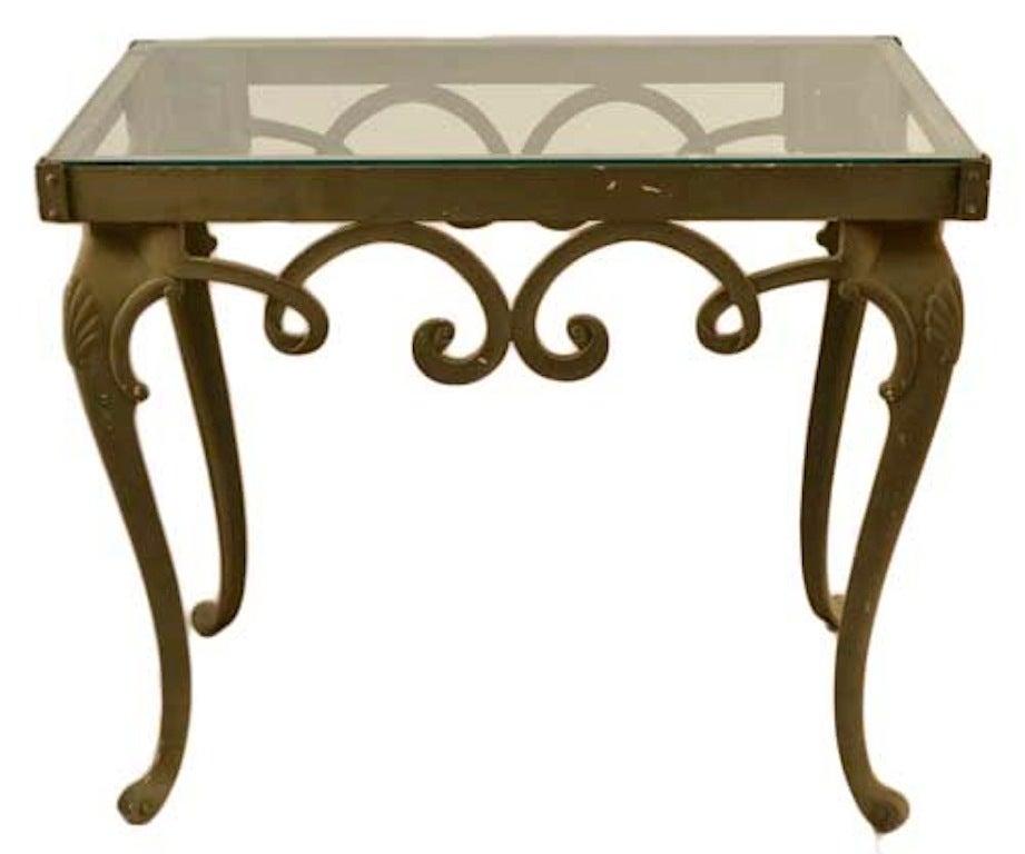 Brown Jordan Glass Top Console Table