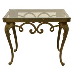Brown Jordan Glass Top Console Table