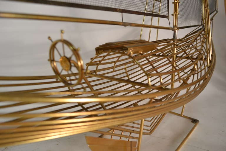 Sailboat model, sculpture by Curtis Jere marked