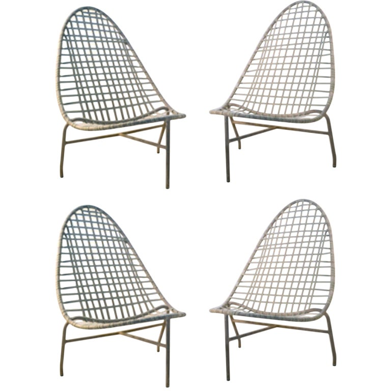 4 Brown Jordan Low Lounge Chairs at 1stdibs