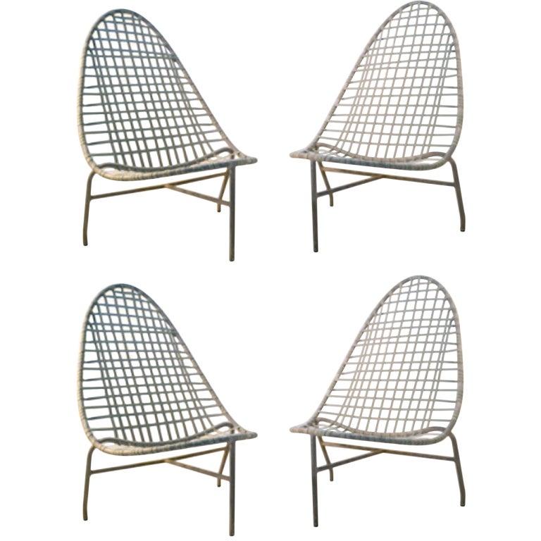 4 Brown Jordan Low Lounge Chairs at 1stdibs