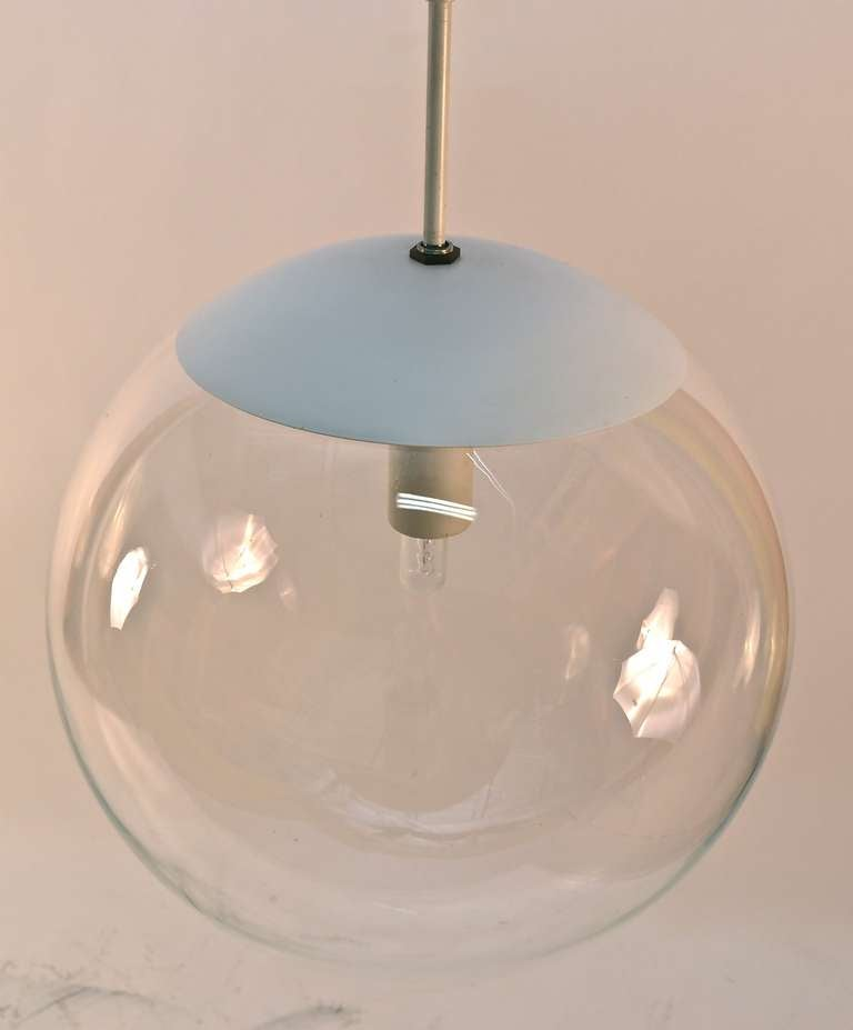 Pair Bubble Glass Ball Chandeliers Hanging Fixtures At 1stdibs