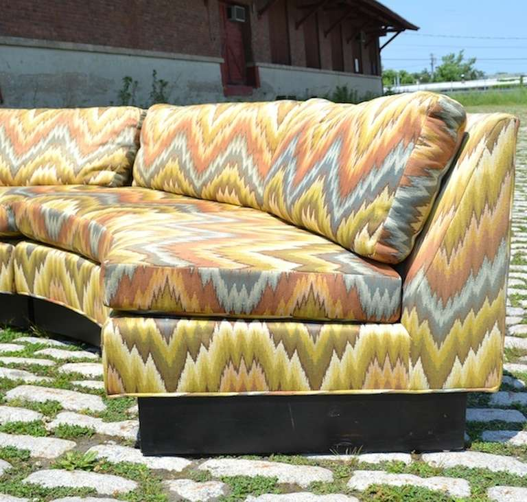 Large Circular Sectional Sofas: Extremely Large Circular Sectional-Erwin Lambeth Sofa At