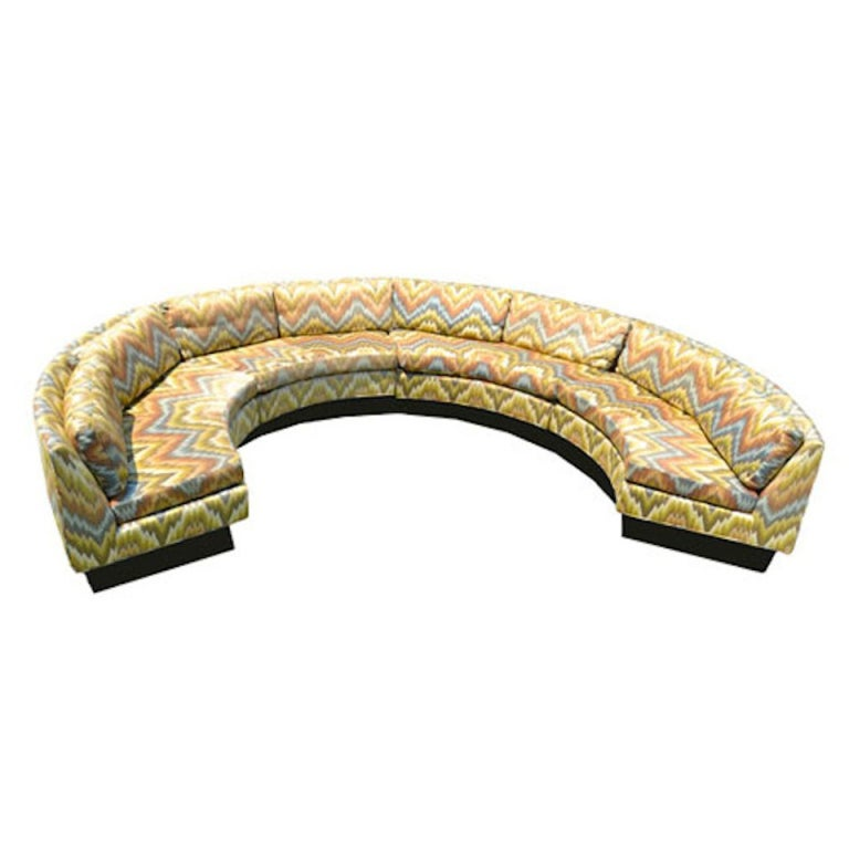 Extremely Large Circular Sectional Erwin Lambeth Sofa At