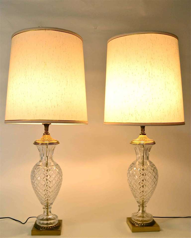 pair glass lamps for sale at 1stdibs. Black Bedroom Furniture Sets. Home Design Ideas