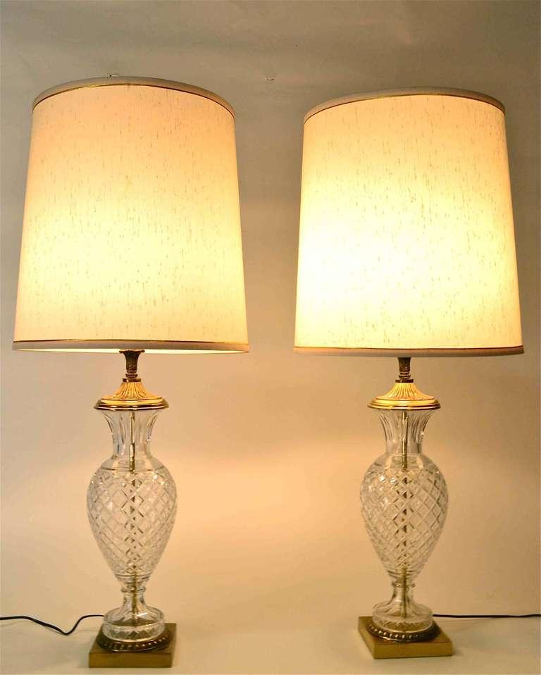 pair glass lamps for sale at 1stdibs. Black Bedroom Furniture Sets. Home Design Ideas