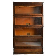 A Turn of the Century Oak Stacking Bookcase By Globe Wernicke