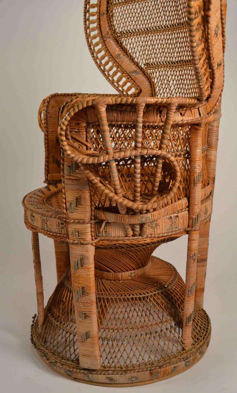 Rattan Peacock Chair At 1stdibs
