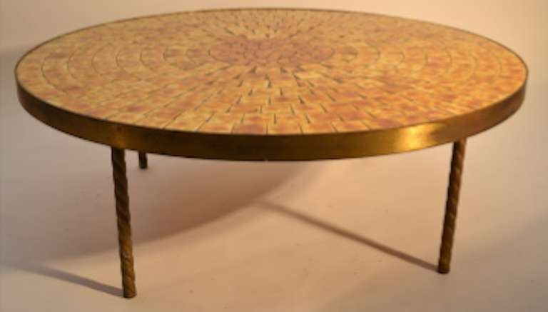 Round Mosaic Tile Top Table 3