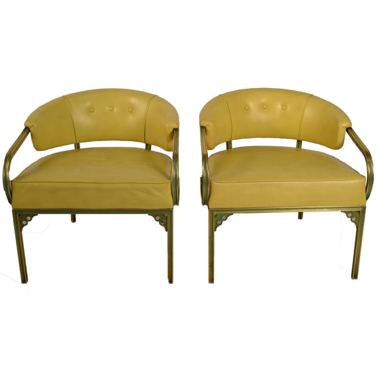 "Pair of Troy Sunshade Company ""Cymbal"" Line Lounge Chairs"