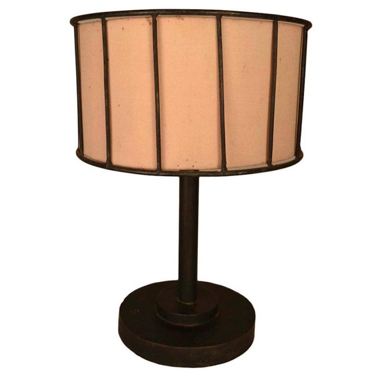 Handmade iron table lamp for sale at 1stdibs - Handmade table lamp ...