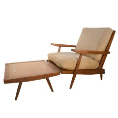 George Nakashima New Hope Studio Chair and Ottoman