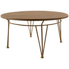 Round Coffee Cocktail Poolside Garden Table indoor / outdoor
