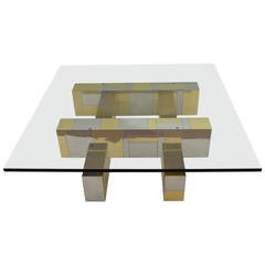 Paul Evans Cityscape Glass-Top Coffee Table