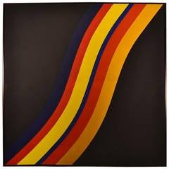 Large Geometric Hard Edge Painting