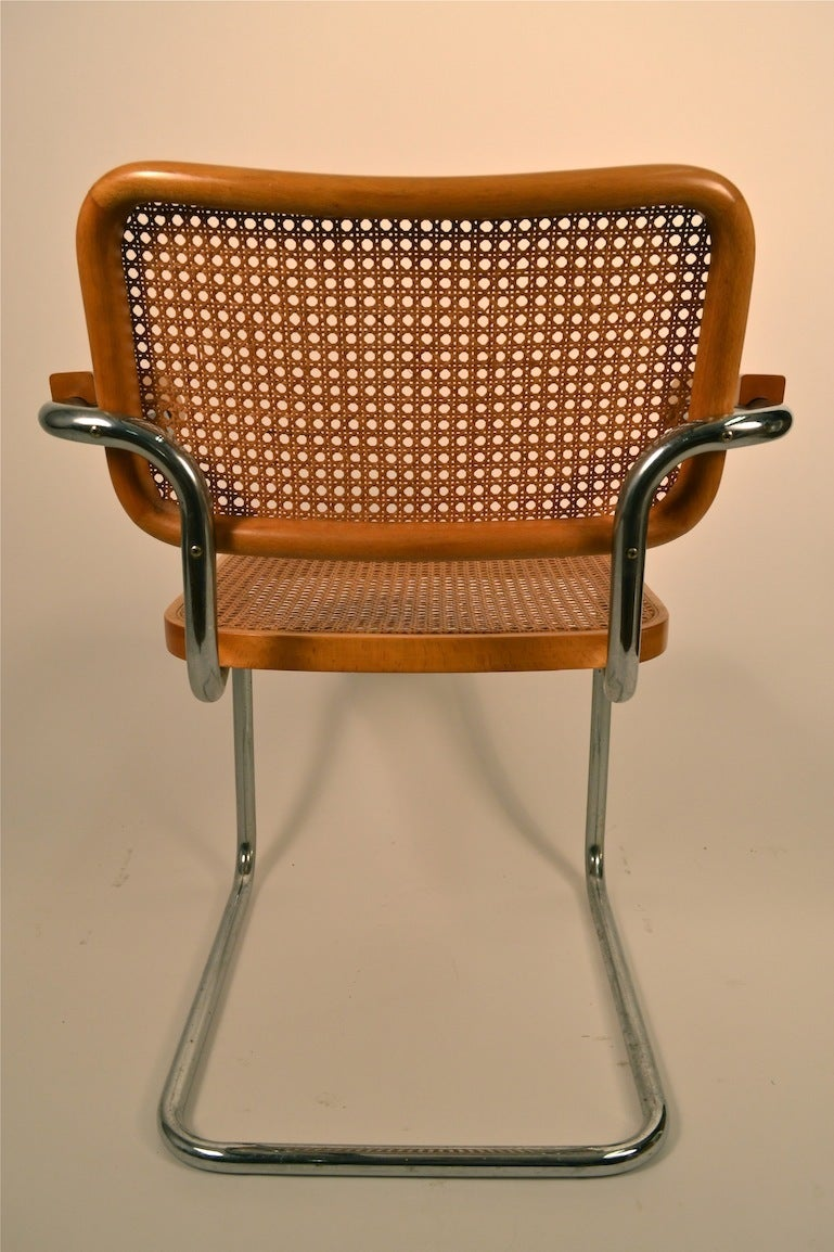 Set Of Four Cesca Marcel Breuer Chairs At 1stdibs