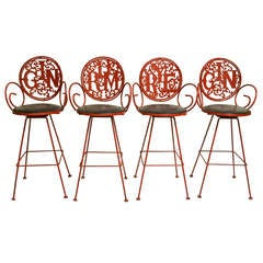 Set of 4 Bar / Counter Stools