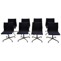 8 Herman Miller Charles and Ray Eames Aluminum Group Chairs