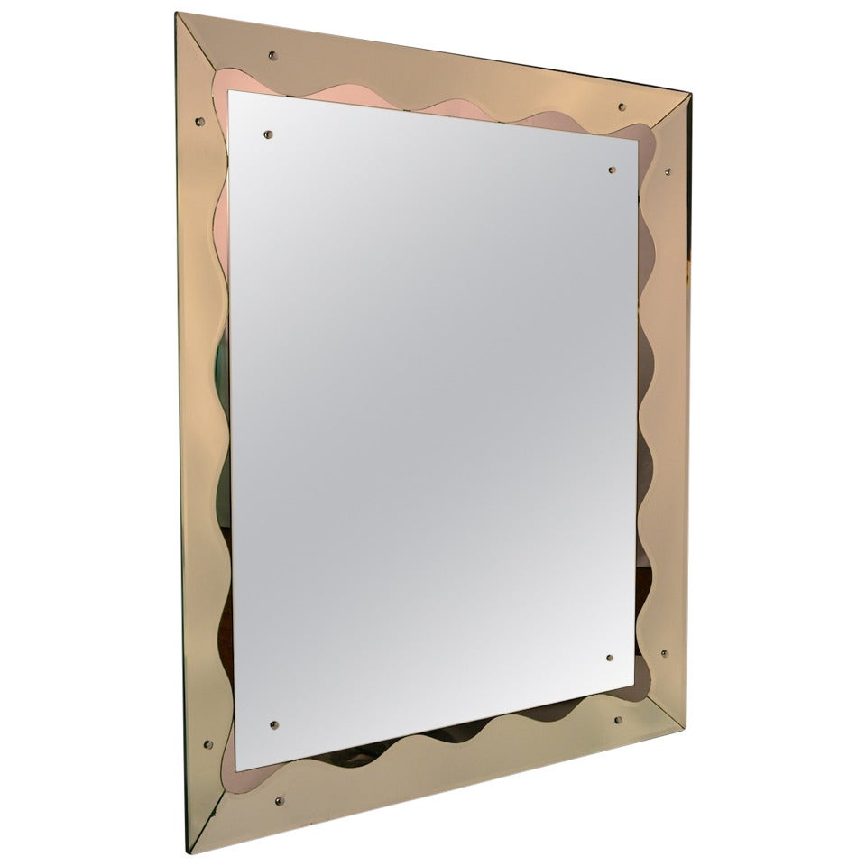 Large Unusual Venetian Mirror