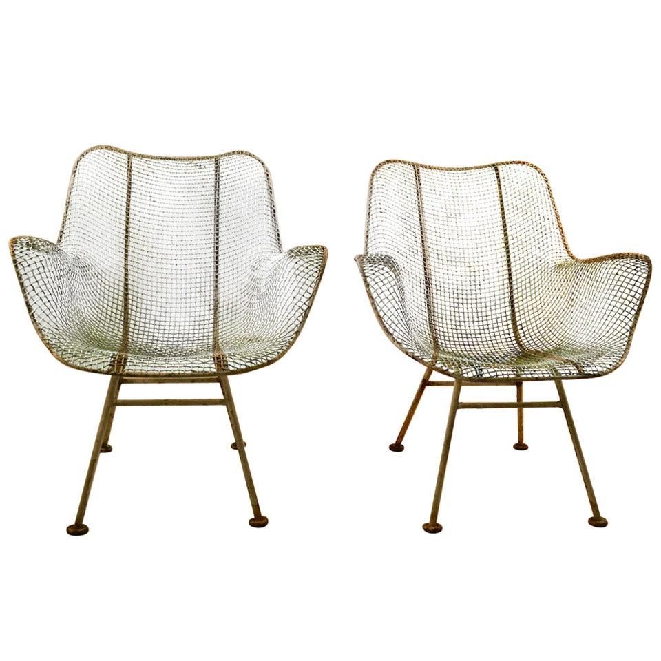Pair Woodard Lounge Chairs