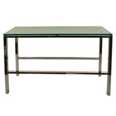 Elegant Chrome and Brass Console Table